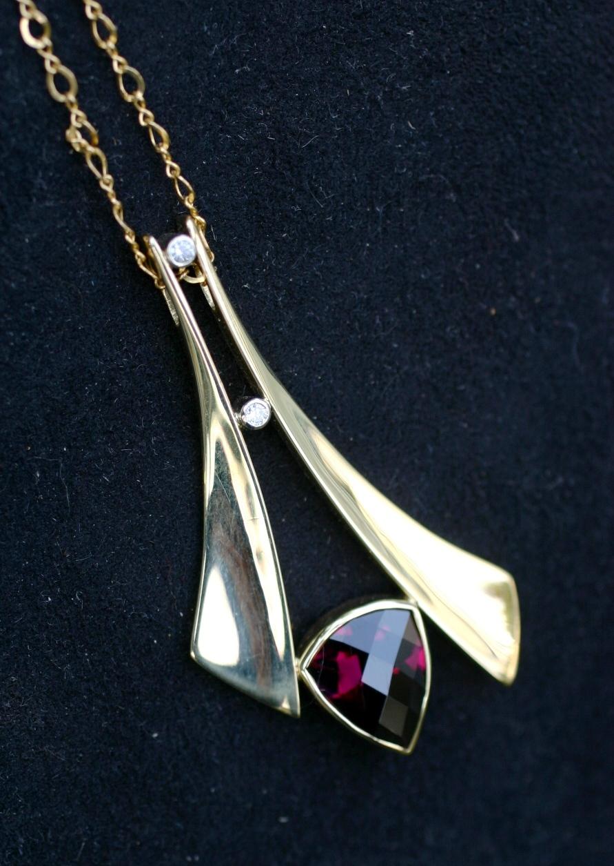 Don bell goldsmith garnet diamond pendant don bell goldsmith garnet diamond pendant don bell goldsmith 14kt aloadofball Image collections
